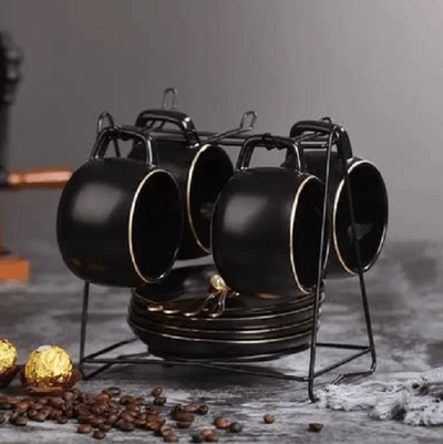 Blacked Out Teacup Collection Set - Atcreative