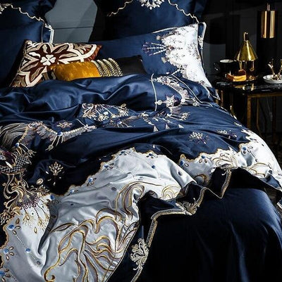 Blue Royal 1000TC Egyptian Cotton Duvet Cover Set - Atcreative