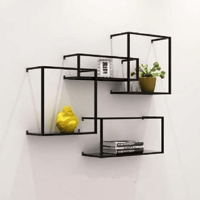 Brock - Modern Nordic Iron Frame Shelves - Atcreative