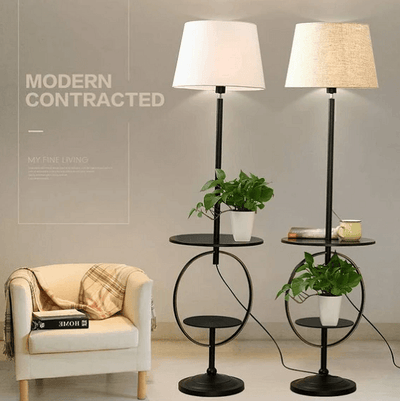 Canary - Modern Shelf & Floor Lamp - Atcreative