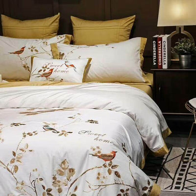 Canary Gold Cover Set (Egyptian Cotton) - at´creative
