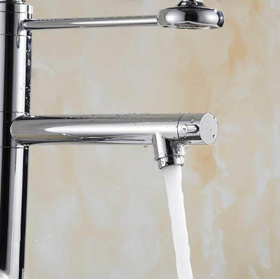 "28.5"" Chrome Swivel Spout Modern Kitchen Faucet 5800-55s - Atcreative"