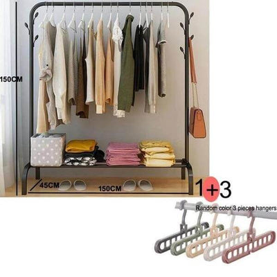 Ciara - Floor Standing Clothes Rack with Shelf - Atcreative
