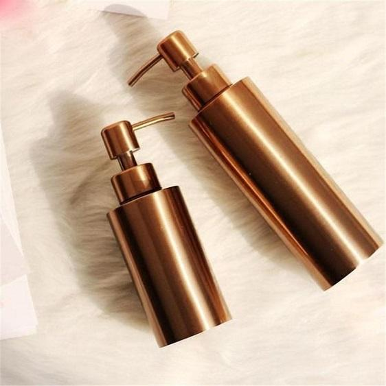 Clang - Rose Gold Toiletries Pump Bottles - at´creative