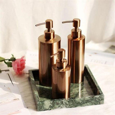 Clang - Rose Gold Toiletries Pump Bottles - Atcreative