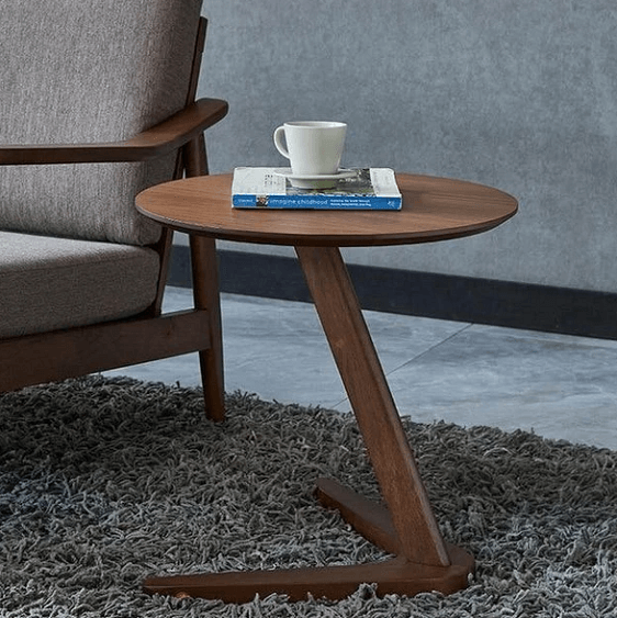 Claude - Vintage Wooden Round Coffee Table - Atcreative