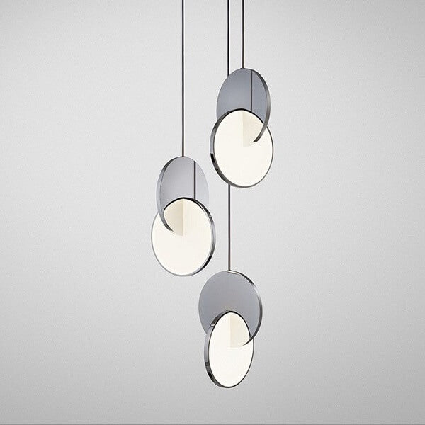 Daileass Modern Merged Circles Pendant Light