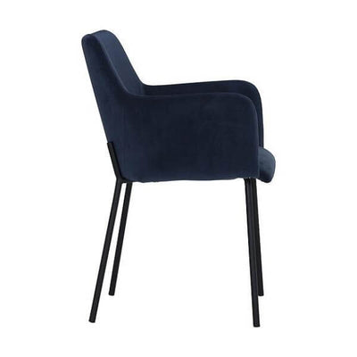 Desta - Navy Blue Dining Armchair - Atcreative