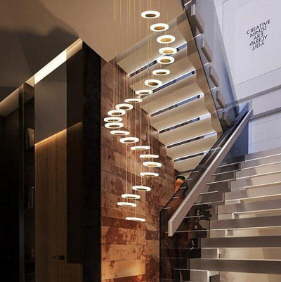 Dianna Wavedrop Staircase Chandelier - Atcreative