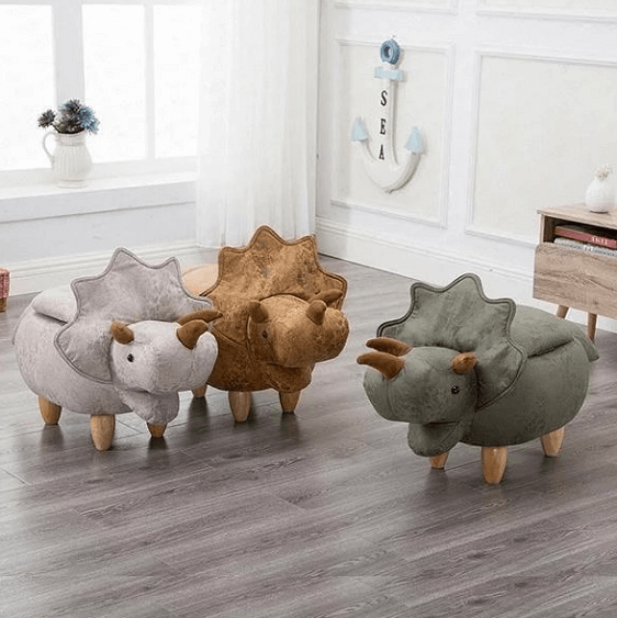 Dinosaur Storage Stool Ottoman - at´creative
