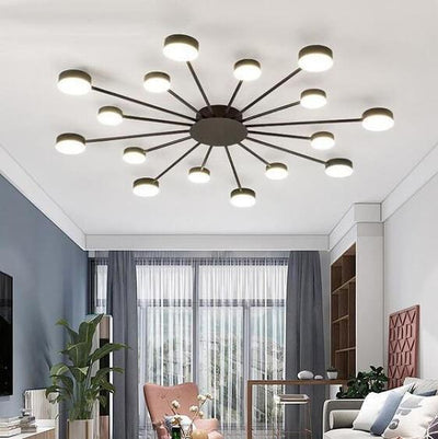 Drexel - Irregular Spoke Round Ceiling Light - Atcreative