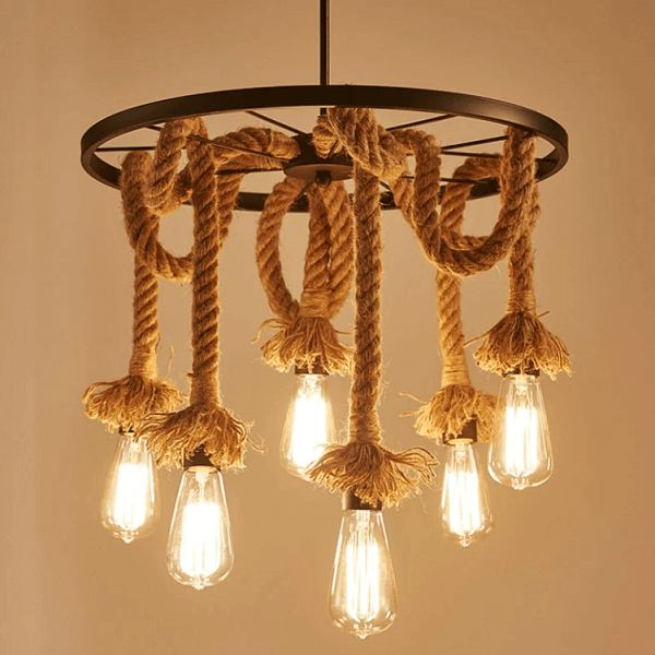 Edison - Rope Pendant Light