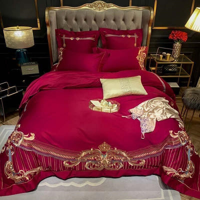Efodia Ultra Egyptian Cotton Premium Embroidery Duvet Cover Set - Atcreative