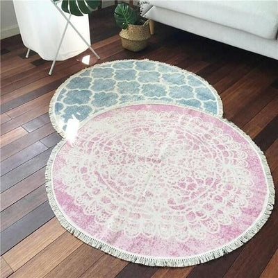 Ember-Vintage Distressed Cotton Rug - Atcreative