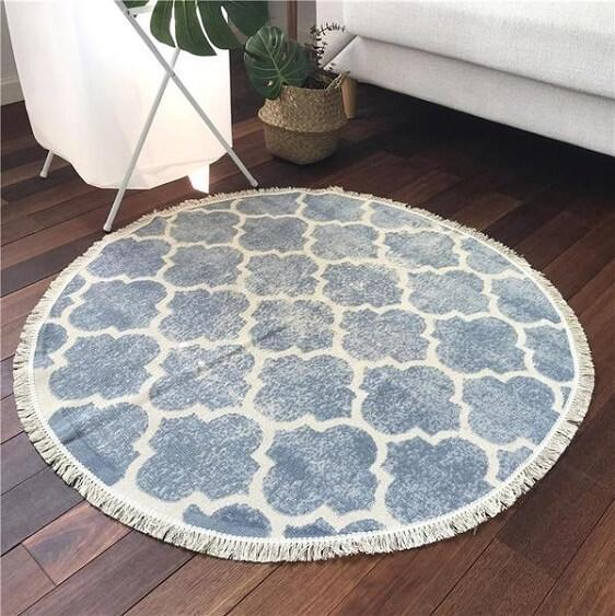 Ember-Vintage Distressed Cotton Rug - at´creative