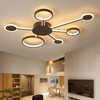 Euro Circular - Wide Ceiling LED Light W/ 4-7 Arms - Atcreative