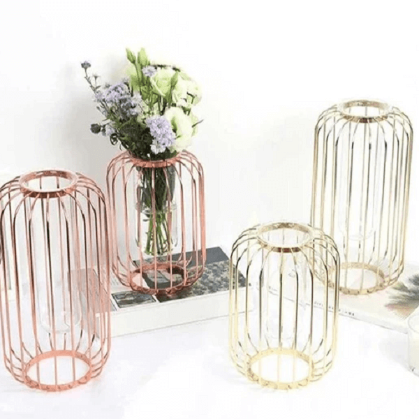 Florin - Modern Iron Frame Vase - at´creative