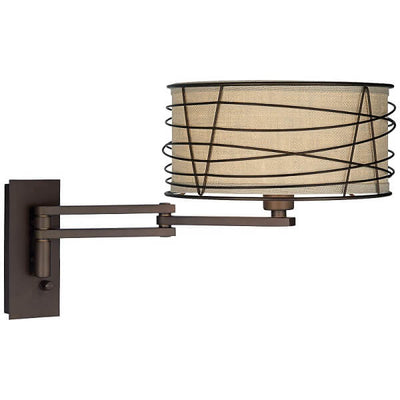 Franklin - Rustic Farmhouse Swing Arm Wall Lamp - Atcreative