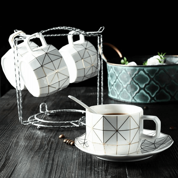 Geo Slice Teacup Collection Set