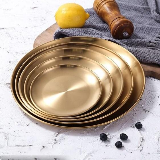Golden Element Plates - at´creative