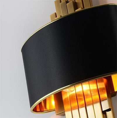 Hanett- LED Gold Metal Sconce - Atcreative