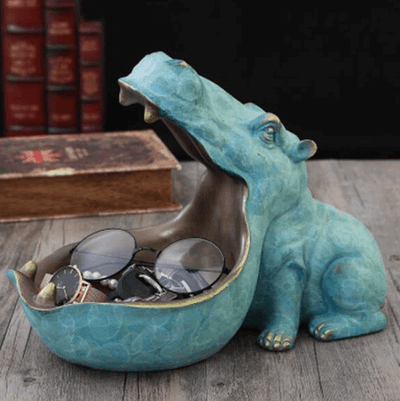 Hippopotamus Sculpture Statue Decoration - Atcreative