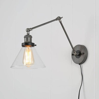 Jacqueline - Adjustable Bent Arm Glass Wall Lamp - Atcreative