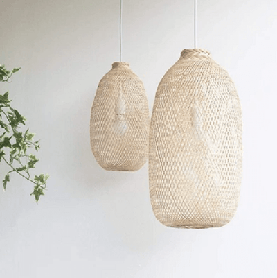 Kanya - Compressable Bamboo Pendant Light - at´creative