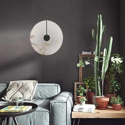 Lalula - Marble Circular Wall Lamp - Atcreative
