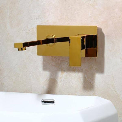 Laney - Wall Mounted Brass Nozzle Bathroom Faucet - Atcreative