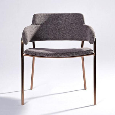 Lara - Rose Gold Base Dining Chair - Atcreative