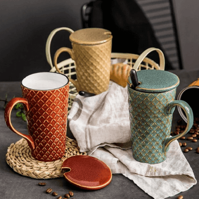 Large Ceramic Coffee Mug - Atcreative