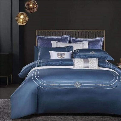 Larkin Duvet Cover Set (Egyptian Cotton) - Atcreative