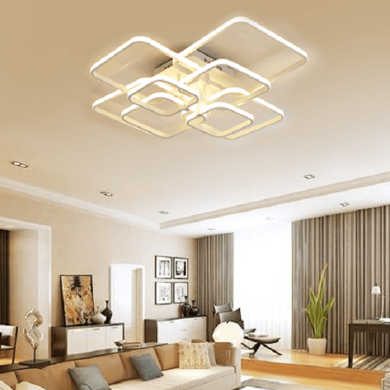 Layered Square Modern LED Chandelier - Atcreative