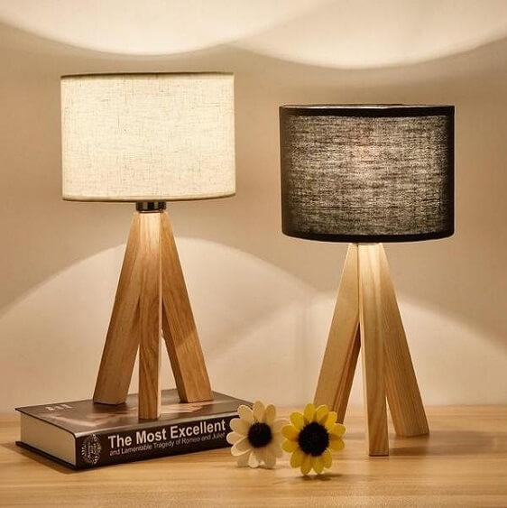 Lizbeth - Three Leg Wooden Base Lamp - Atcreative