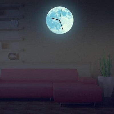 Lua - 3D Glow-In-The-Dark Moon Walk Clock - Atcreative