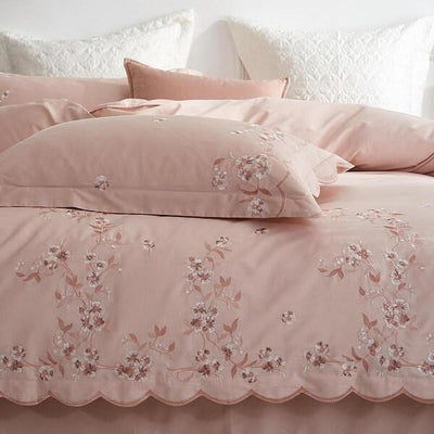 Meelona Egyptian Cotton Embroidered Duvet Cover Set - Atcreative