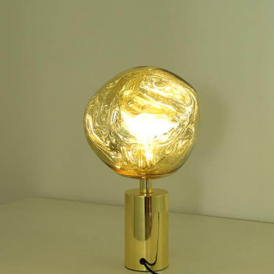 Modern Melt Led Table Lamp Replica Tom Dixon Gold/Chrome - Atcreative