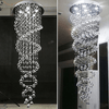 Modern LED Double Spiral Crystal Chandelier - Atcreative