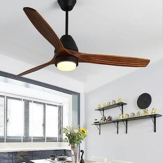 Modern Nordic Ceiling Fan with LED Light - at´creative