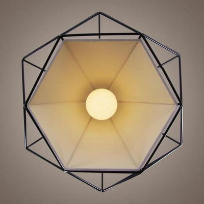 Modern Nordic Geometric Iron Cage Hanging Lamp - Atcreative