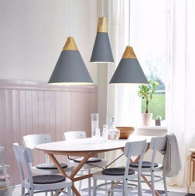 Modern Nordic Wooden Base Hanging Light - Atcreative