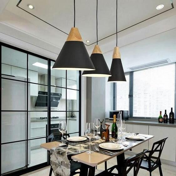 Modern Nordic Wooden Base Hanging Light - at´creative