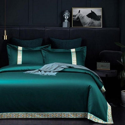 Orbetera Egyptian Cotton Patchwork Duvet Cover Set - Atcreative