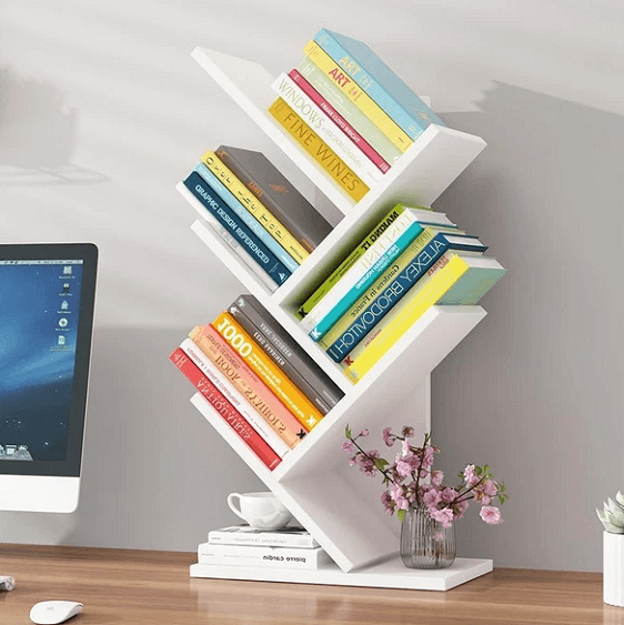 Paityn - Angled Desktop Bookcase - at´creative