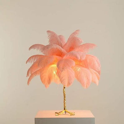 Palm Luxury Feather Floor/Table Lamp - Atcreative