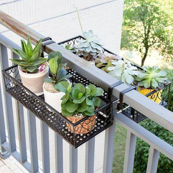 Poppa - Balcony Railing Hanging Planter - Atcreative