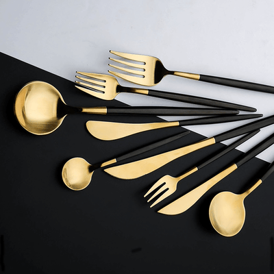 Premium Black Silverware Set - Atcreative