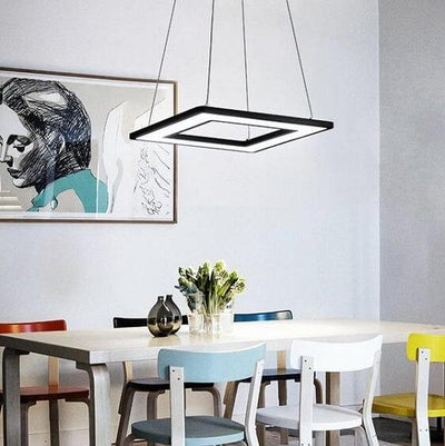Regina - Modern Hanging  Frame LED Lamp - Atcreative