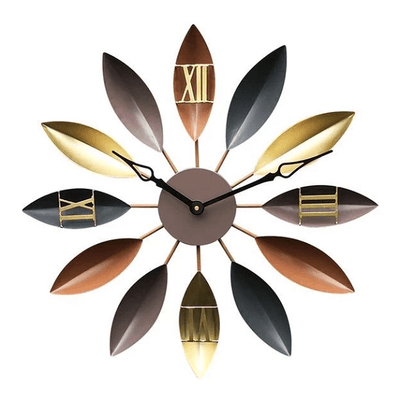 Roma - Mediterranean Leaf Spoke Clock - Atcreative